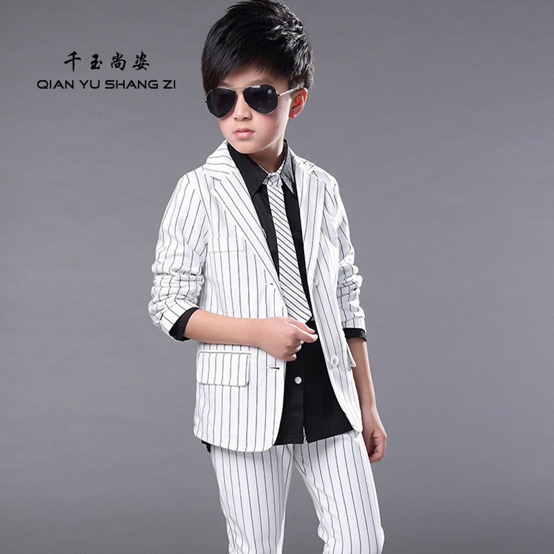Students Party Suit Set Boys 3-14Years Old Kids Casual Suits Nice Striped Fashion Blazers Suit Sets For Children Gentleman Suit<br><br>Aliexpress