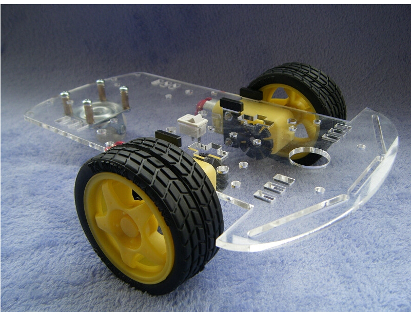 Free Shipping 2 Wheel Drive Robot Chassis Kit - 1 Deck<br>