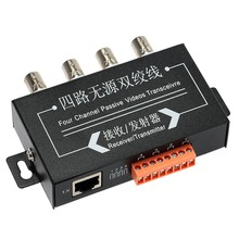 Yumiki CCTV BNC Passive Video Balun 4 Channel No Power Transceiver Surveillance Equipment Accessories