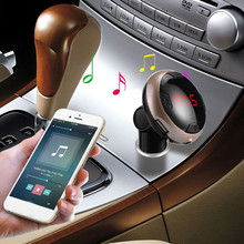 Wireless LCD Bluetooth Car MP3 FM Transmitter AUX USB Disk Charger Handsfree Kit &Wholesale