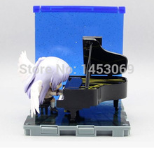Angel beats! Tachibana Kanade Playing The Piano acción PVC Figure Toy Doll