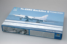 trumpeter 1/72 01656  Tu-22M3 Backfire C Strategic bomber  Assembly Model kits building scale model plane 3D puzzle plane