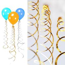 6pcs/set  Shinning Laser Spiral Tassels  Holiday Party Wedding Backdrop Smallpox Decoration Air Balloon Decoration Accessries