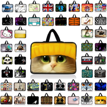 "Cute Cat Print Laptop Sleeve Tablet Bag Notebook Case For 7 10 12 13.3 14"" 15.4 15.6 17 inch Computer For Asus HP Acer Lenovo B1"