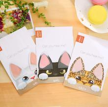Cute Cat Ears Mini Memo Pad Sticky Notes Escolar Papelaria School Supply Bookmark Post it Label(China)