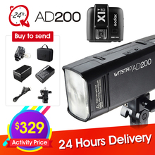 Buy GODOX AD200 TTL 2.4G HSS 1/8000s Pocket Flash Light Double Head 200Ws + X1T-C/X1T-N/X1T-S SONY CANON NIKON + Six Big Gift for $329.00 in AliExpress store