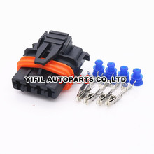 100pcs/lot 5 Pin/Way Female TYCO Auto Sealed Automobile ECU Connector Plug Housing For Bosch 368162-1(China)