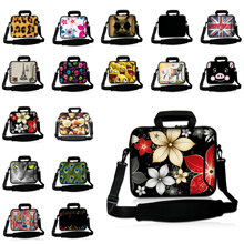 "Flowers PC Notebook Messenger Bags 9.7"" 10.1"" Tablet Netbook Portable Shoulder Bag 15.6 15 14 13 12 17"" Inch Mini Computer Bags"