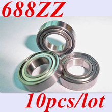 Free shipping 10pcs 688ZZ 688Z 688 ABEC-5  8*16*5  Miniature Ball Radial Deep Groove Ball Bearings