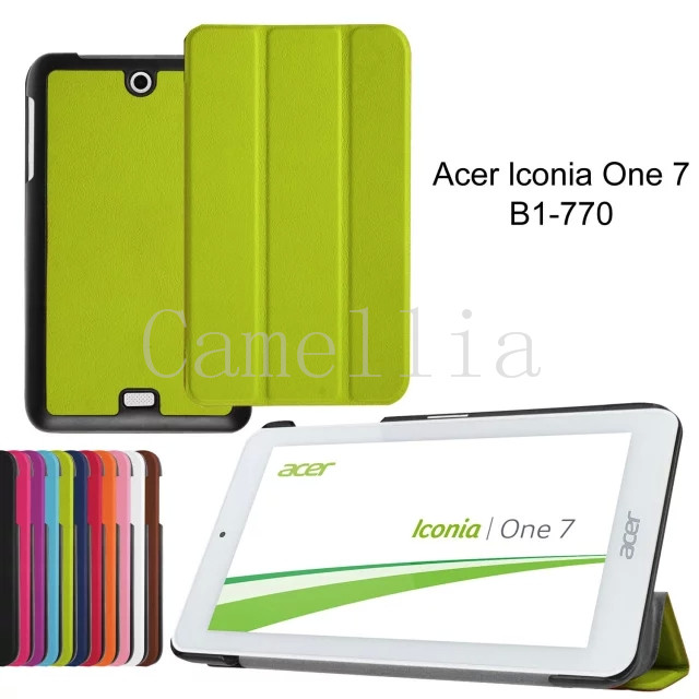50Pcs/lot For Acer Iconia One 7 B1-770,Premium Tri-fold PU Leather Case Magnetic Folio Cover for Acer Iconia One 7 B1-770 Tablet<br><br>Aliexpress