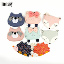 Monsisy Girl Coin Purse Children's Wallet Small Change Purse Kid Bag Coin Pouch Money Holder Cat/Fox/Bear/Hedgehog Baby Handbag