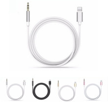 For Lightning to Aux Jack Audio Cable Headphone Audio Adapter Cable For iPhone 7 7Plus Supports IOS 10.2