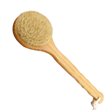 Hot Sale Round Shape Natural Boar Bristle Wooden Brush Long Handle Wooden Detox Wooden Handle Body Brush Skin Brush ETS8