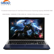15.6inch I7 portatil gaming notebooks 8GB RAM 1000GB HDD & 128GB SSD 1920*1080 HD screen WIFI camera Windows 10 laptop(China)