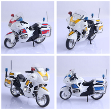 Assembly Alloy Police Motorcycle Model Kids Children Toy Gift DIY Model Building Kits Assembly Police Motorcycle Toy