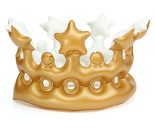 Golden 20cm Inflatable Crown Pool Inflatable Toy Cap Swimming Game Toy Air Mattresses Large Floating Island Boat Toy Party