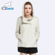 ICEbear 2017 Double Breasted Cotton Padded Fashion Warm Parka Outerwear Autumn  Spring Short Womens Coats And Jackets 17G2117D