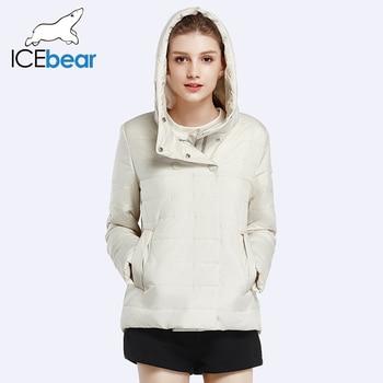 Icebear 2017 مزدوجة الصدر القطن مبطن الموضة سترة قميص الخريف الربيع قصير إمرأة المعاطف و السترات الدافئة 17G2117D