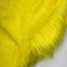 "Yellow  Solid Shaggy Faux Fur Fabric (long Pile fur)  Costumes  Cosplay  Cloth  36""x60"" Sold By The Yard  Free Shipping"