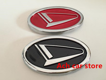 Free shippin 7.7*4.5cm black red Daihatsu logo car emblem Rear Decals badge sticker Decal Car styling Auto accessories(China)