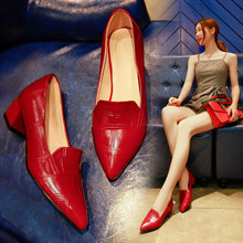 2019 Fashion Special Offer For Women Spring Summer Point Toe Sexy Square Casual Block High Heels Shoes Mujer Female Woman Pumps(China)