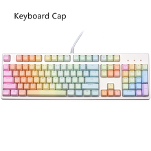 DIY Gamer gaming keyboard caps Rainbow keycap 104 standard key combination mechanical keyboard keycap