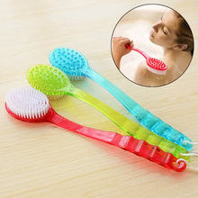 Bath Brush Skin Massage Health Care Shower Reach Feet Back Rubbing Brush With Long Handle Massage Accessories  LS