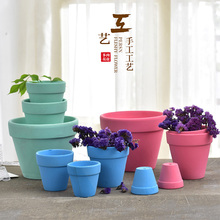 FREE-SHIPPING FOR 10$!!Macaron Terracotta Plant Pots Ceramic Pots Succulents Creative Unglazed Pots Paint The Environmental