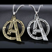 Buy HEYu Movie Jewelry Marvel's Avengers Logo Superhero Marvel Cosplay Pendent Necklace Men Charms Necklace Accessories Men Gift for $1.75 in AliExpress store
