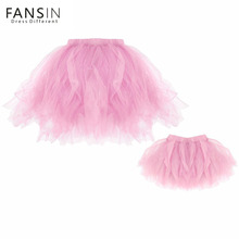 Mother and Daughter Ball Gown Skirt Mesh Tulle Party Dance Princess Tutu Skirts Family Matching Clothes Photography Accessories(China)