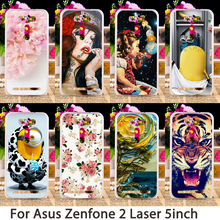 Soft Phone Cases For Asus Zenfone2 Laser ZE500KL ASUS_Z00RD Zenfone 2 Laser ZE500KG Hard Back Cover Skin Shield Housing Sheath
