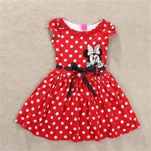 girl clothes vestidos roupas infantil meninas vestir children's / kid clothing brand polk dot party dresses minnie costume(China)