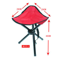 Hot sell Leisure tool Large Three Legged Fishing Stool Outdoor Portable Folding Fishing Stool Picnic Chair Folding Camping Chair(China)