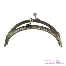 DoreenBeads Metal Frame Kiss Clasp Arch For Purse Bag Antique Bronze 12.6cm x 7.7cm(Can Open Size:14.8cm x 12.6cm),3PCs (B35585)