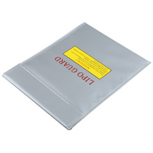 Top Quality Silver  1PCS RC LiPo Battery Fireproof Safety Bag Safe Guard Charge Sack Lipo Guard Bag 180*230*15mm