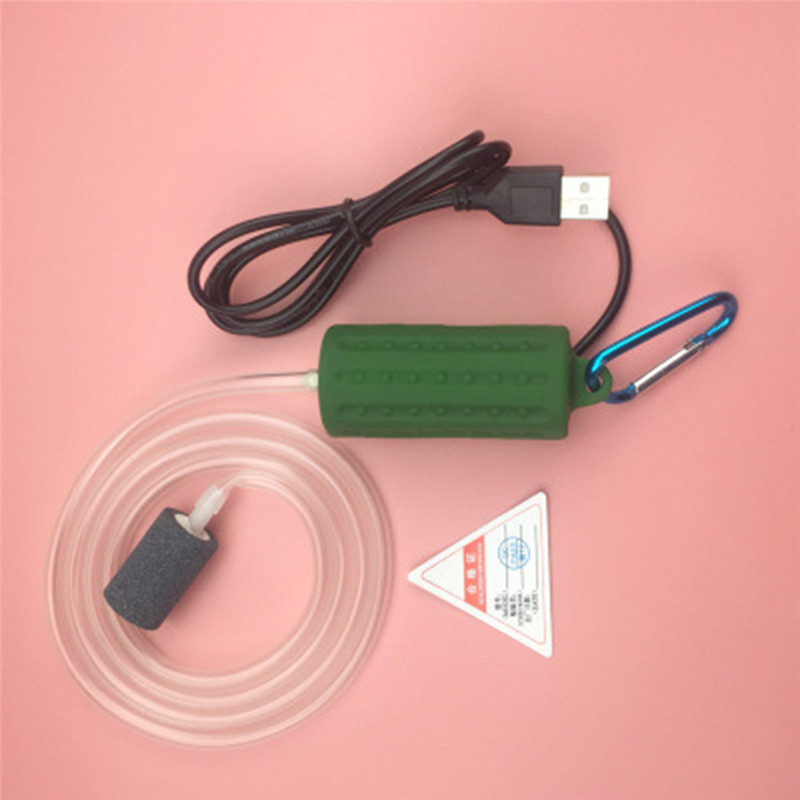 Aquarium Air Pump Portable Mini USB Oxygen Air Pump Mute Energy Saving Supplies Aquatic Terrarium Fish Tank Accessories 12
