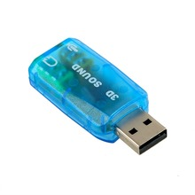1 pcs 3D Audio Card  USB 1.1 Mic/Speaker  Adapter Surround Sound 7.1 CH for Laptop notebook