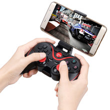 Wireless Gaming Control Joystick+Holder Bluetooth Game Controller for iOS for Android Phones Tablet PC Gamepad Terios S3 Holder