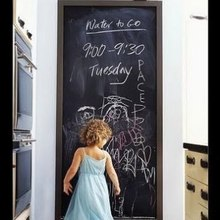 Home KId's Play Room Decoration Diy Cut Random Chalk Board Blackboard Sticker Removable Vinyl Wall Decal with 5 Free Chalks(China)