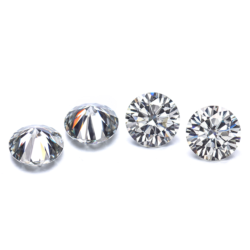 Round Brilliant Cut 2ct 8.0mm IJ Color Lab Created Moissanites Loose Stone.