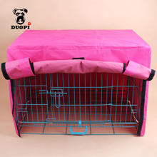 Duopi Durable Pet Dog Cage Cover Oxford Cloth Waterproof Practical Kennel Shrouded Shelter Cover Pet Crate Cover Without Cage(China)