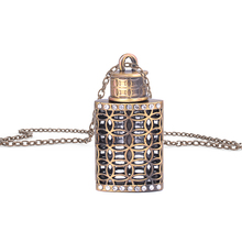 MUB - Stylish Women Parfum Vial Crystal Pendant With Box Vintage Pendant Necklace Empty Perfume Bottle For Ladies