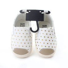 2018 Soft Bottom Fashion Dot Sneakers Baby Boys Girls First Walkers Toddler Non-slip Shoes White PU Leather Infant Kid Prewalker(China)