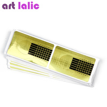 100 Pcs Professional Nail Forms Acrylic Curve Nails Gel Nail Extension Nail Art Guide Form(China)