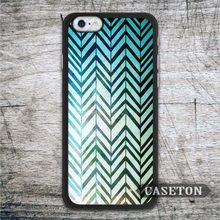 Green Chevron Abstract Case For iPhone 7 6 6s Plus 5 5s SE 5c 4 4s and For iPod 5 Lovely Ultra Protective Cover Wholesale