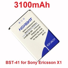 HSABAT 3100mAh BST-41 Battery for Sony Ericsson A8i M1i X1 X2 X2i X10 X10i PLAY R800 R800i Play Z1i