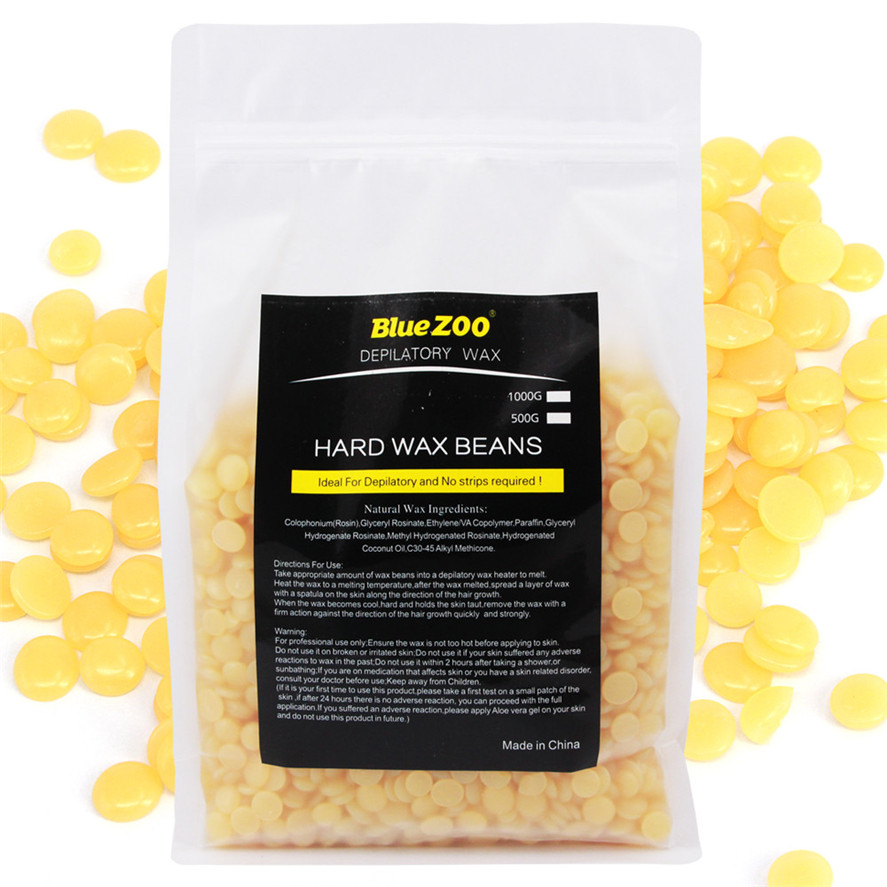 New Wax for Depilation 1000g Honey flavor No Strip Depilatory Hot Film Hard Wax Pellet Waxing Bikini Hair Removal Bean Pretty<br>