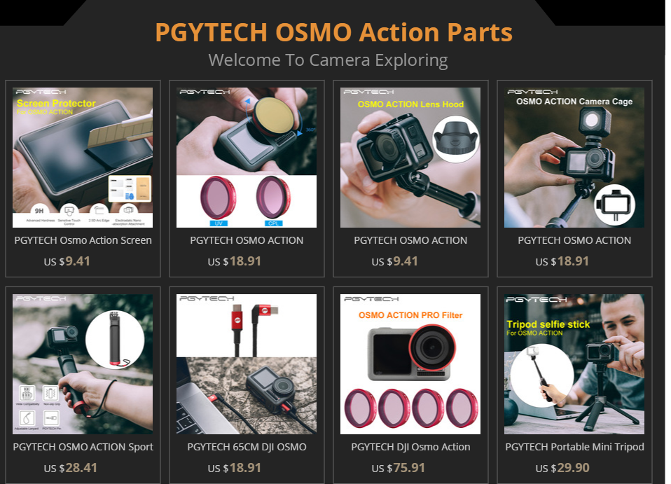 CPL PGYTECH OSMO Action Filter Professional