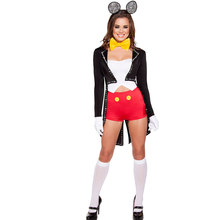 sexy Lovely Minnie Mouse Costume for Women sexy mouse costume black Tail Coat Minnie Mouse Mascot Costumes w1721