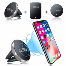 GETIHU Car Phone Holder Magnetic Air Vent Mount Mobile Smartphone Stand Magnet Support Cell Cellphone Telephone Desk Tablet GPS(China)